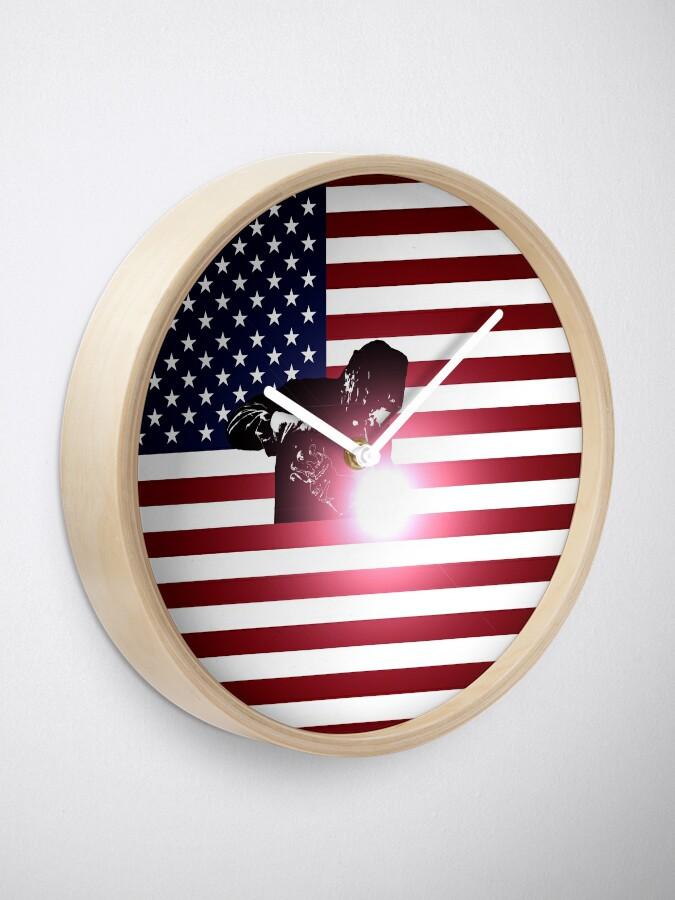 Alternative Ansicht von Schweißen: Schweißer & amerikanische Flagge Uhr