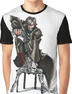 Sci Fi Android Battle Graphic T-Shirt