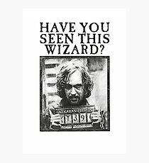 WANTED - Sirius Black  Photographic Print