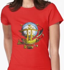 flying ship Womens Fitted T-Shirt