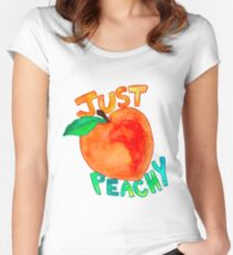 just peachy watercolor Women's Fitted Scoop T-Shirt