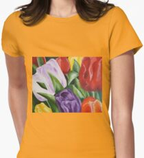 Tulips Women's Fitted T-Shirt