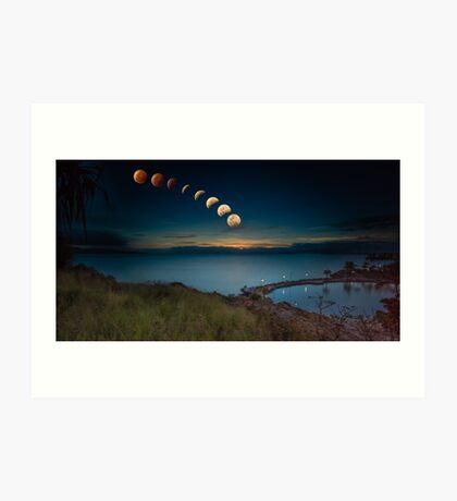 Lunar Eclipse Townsville Art Print