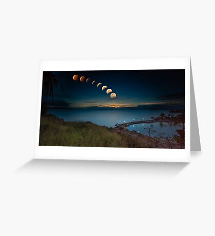 Lunar Eclipse Townsville Greeting Card