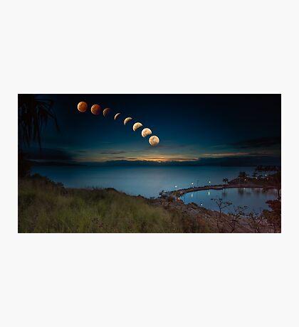 Lunar Eclipse Townsville Photographic Print