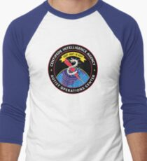 CENTIPEDE INTELLIGENCE AGENCY - AUTIST OPERATIONS CENTER Baseball ¾ Sleeve T-Shirt