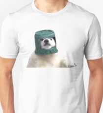 Adorable Polar Bear Cub in helmet Unisex T-Shirt