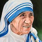 portrait of Mother Teresa, by Hidemi Tada