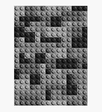 Lego Bricks Black White Photographic Print