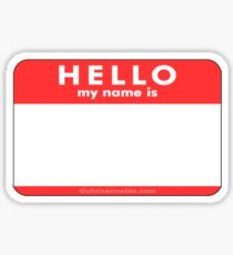 name tag stickers redbubble