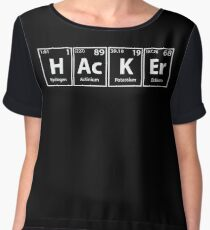 Hacker Elements Spelling Women's Chiffon Top