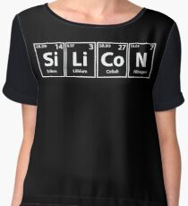 Silicon Elements Spelling Chiffon Top
