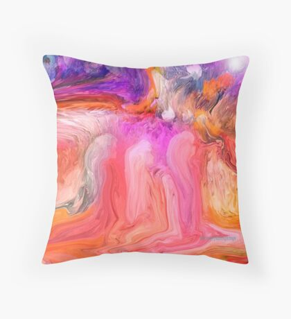 Little girls Praying, In A Dream by Sherri's Of Palm Springs Throw Pillow