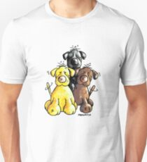Three cute Labradors Unisex T-Shirt