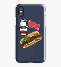 Coffee and banh mi - Vietnamese sandwich ca phe food asian beef vegetable healthy iPhone Case