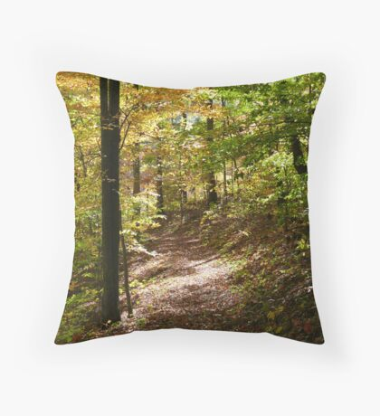 Color in the Forest Throw Pillow