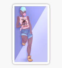 Lesbe Chill Sticker