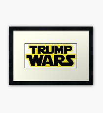 TRUMP WARS Framed Print