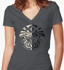 House of Black and White Women's Fitted V-Neck T-Shirt