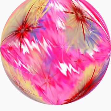 Round Pink Mist Ts by suzie