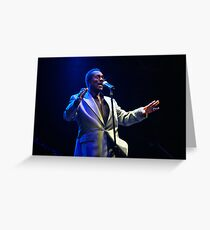 Wilson Pickett in concert Greeting Card