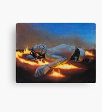Death Of An Android Canvas Print