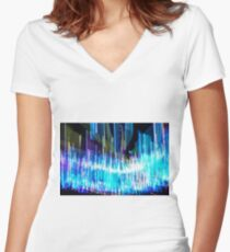 Lights Women's Fitted V-Neck T-Shirt