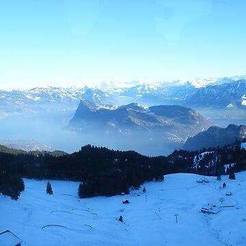 Lovely Swiss Landscape by Alchemistress