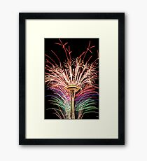 Happy New Year Seattle Framed Print
