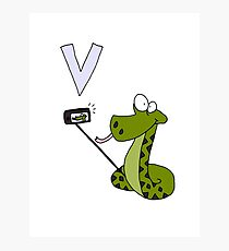 V is for Viper Photographic Print