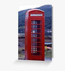 'Phone Box on Shore Greeting Card