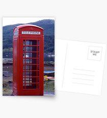 'Phone Box on Shore Postcards