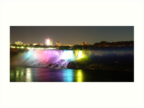 Niagara Falls Illuminated by nfsnyc