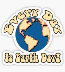 Every Day is Earth Day - Cobalt Sticker