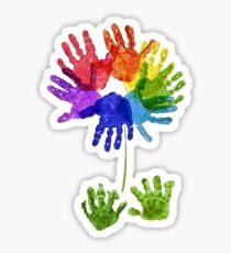 hand print flower Sticker