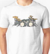 Pixel Shining Blue Drum Set T-Shirt