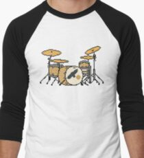 Pixel Gold Sparkle Bird Drum Set T-Shirt