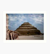 sakkara egypt Art Print