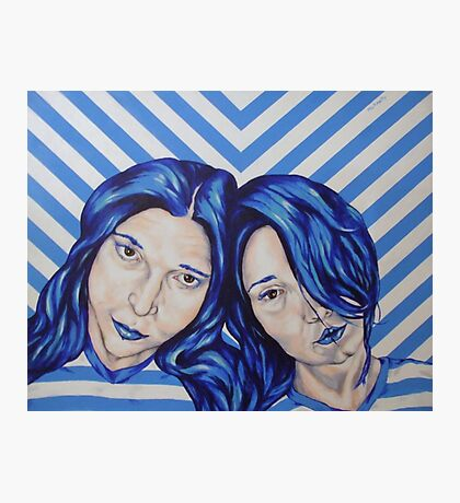 stripey sisters Photographic Print