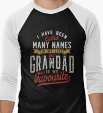 I have been called many names in my life but grandad is my favourite - T-shirts & Hoodies Men's Baseball ¾ T-Shirt