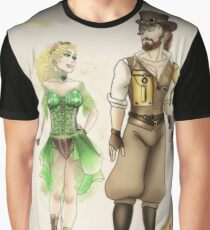 Steampunk Yavanna and Aule Graphic T-Shirt