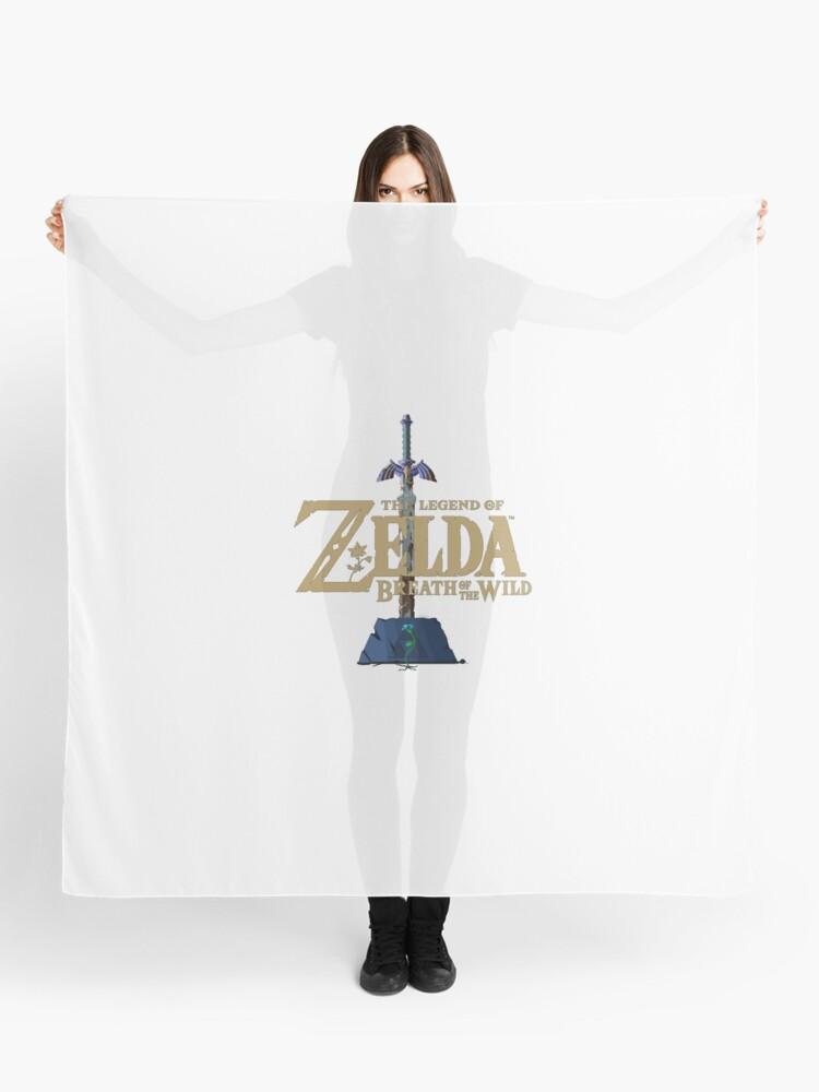 Legend Of Zelda Botw Pixel Rusted Master Sword W Logo Flower Scarf