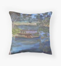 Paddleboat on the Murray Throw Pillow