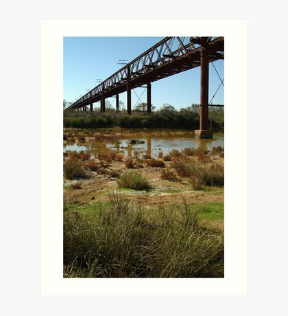 Argibuckle Bridge, Oodnadatta Track,Outback South Australia Art Print