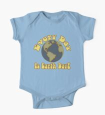 Every Day is Earth Day - Brown & Blue One Piece - Short Sleeve