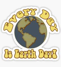 Every Day is Earth Day - Brown & Blue Sticker