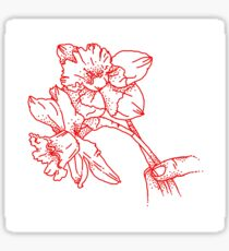 red daffodils  Sticker
