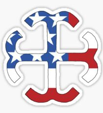 Star Spangled French Cross Sticker