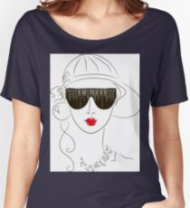 girl with sunglasses Women's Relaxed Fit T-Shirt