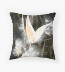 REDREAMING MILKWEED Throw Pillow